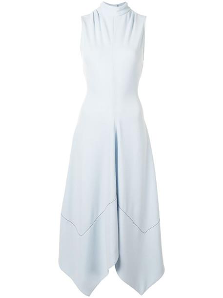 Proenza Schouler sleeveless silk asymmetric dress in blue