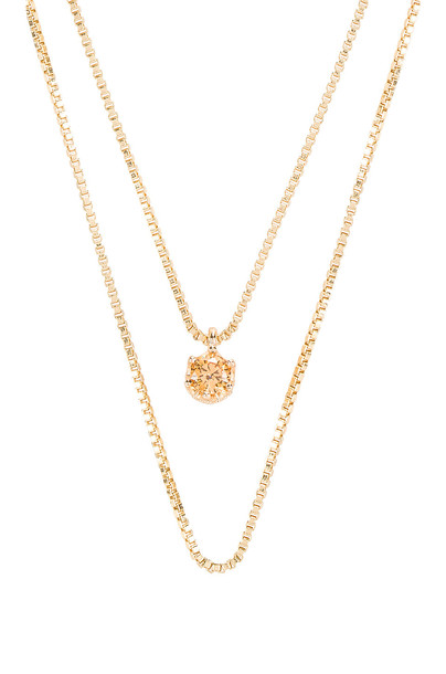 Natalie B Jewelry November Birthstone Necklace in gold / metallic