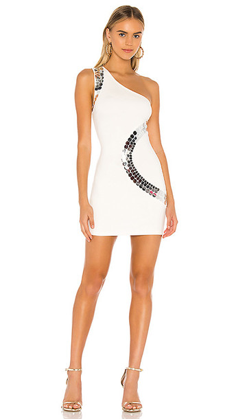 superdown Sayde Embellished Mini Dress in White