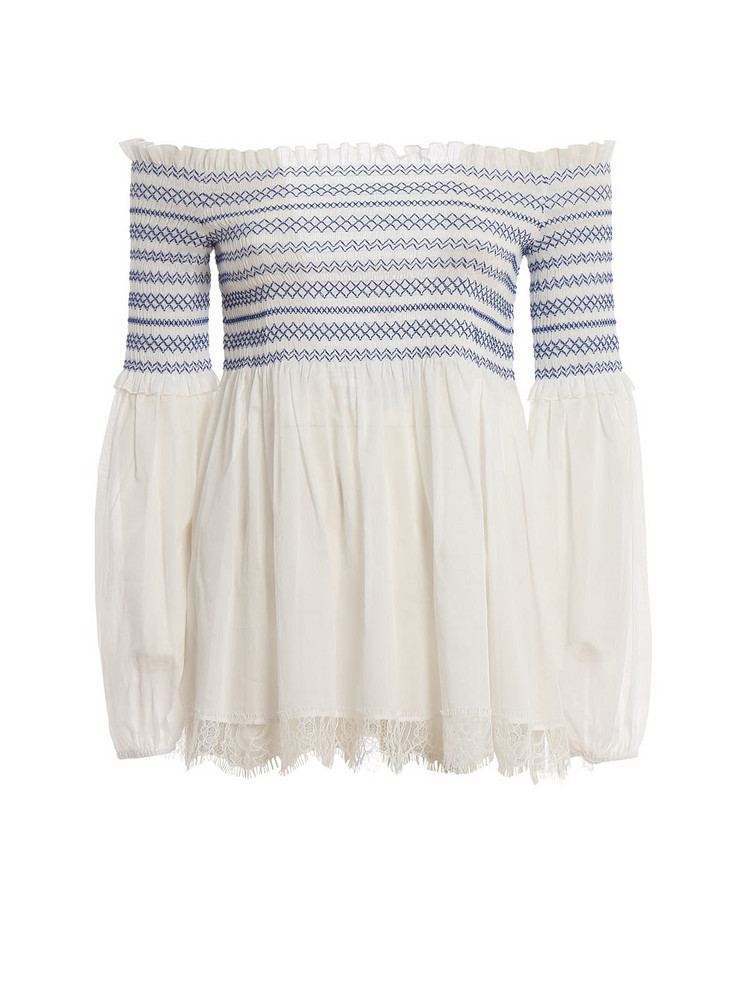 Blumarine Embroidered Blouse in bianco