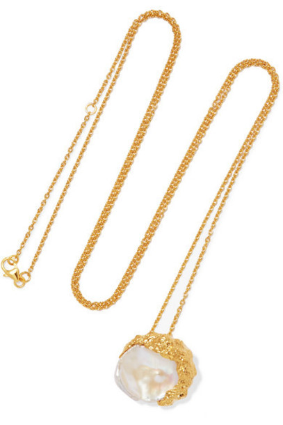 Pacharee - Dhin Gold-plated Pearl Necklace