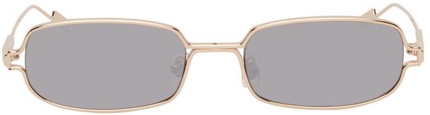 BONNIE CLYDE Gold Mirror Petrichor Sunglasses