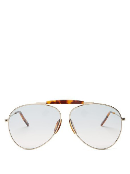 Acne Studios - Aviator Metal Sunglasses - Womens - Blue