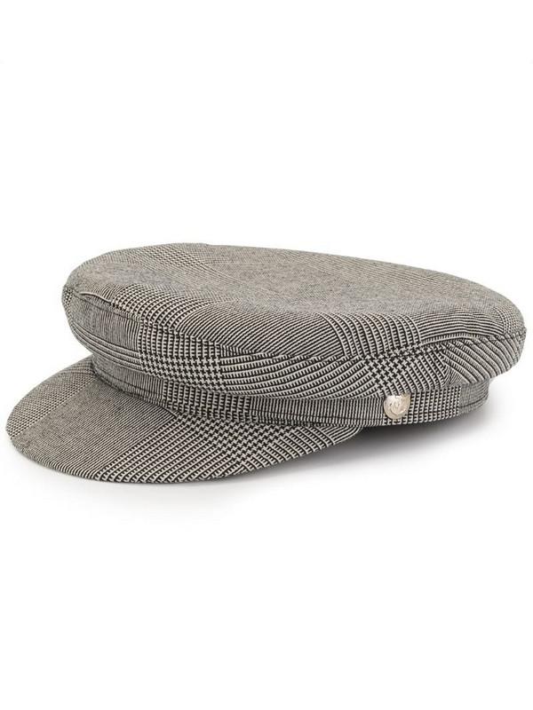 Manokhi Greek Fisherman checked hat in grey