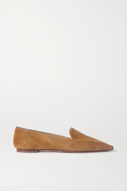 aeyde - Aurora Suede Loafers - Light brown
