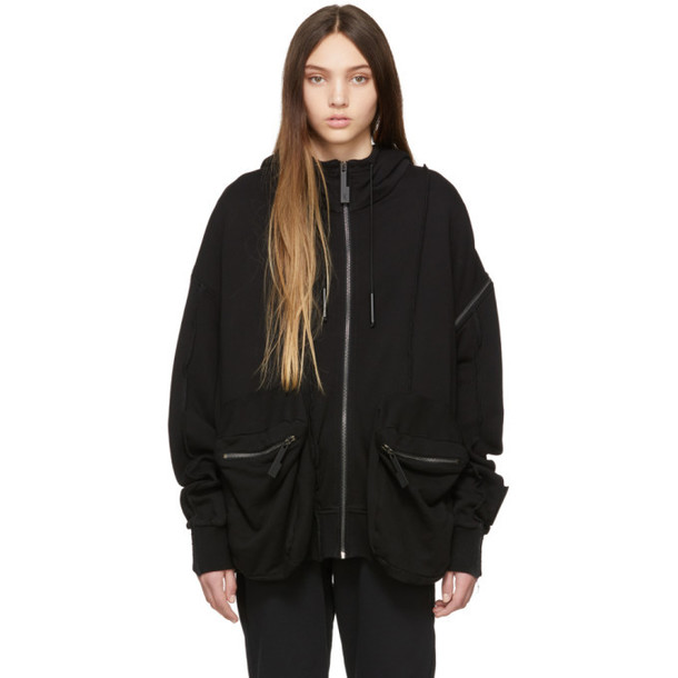 A-Cold-Wall* Black Sleeve Patch Hoodie