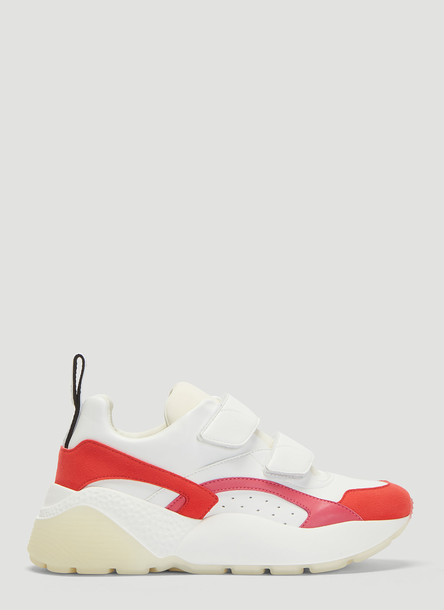 Stella McCartney Eclypse Velcro Sneakers in White and Red size EU - 39