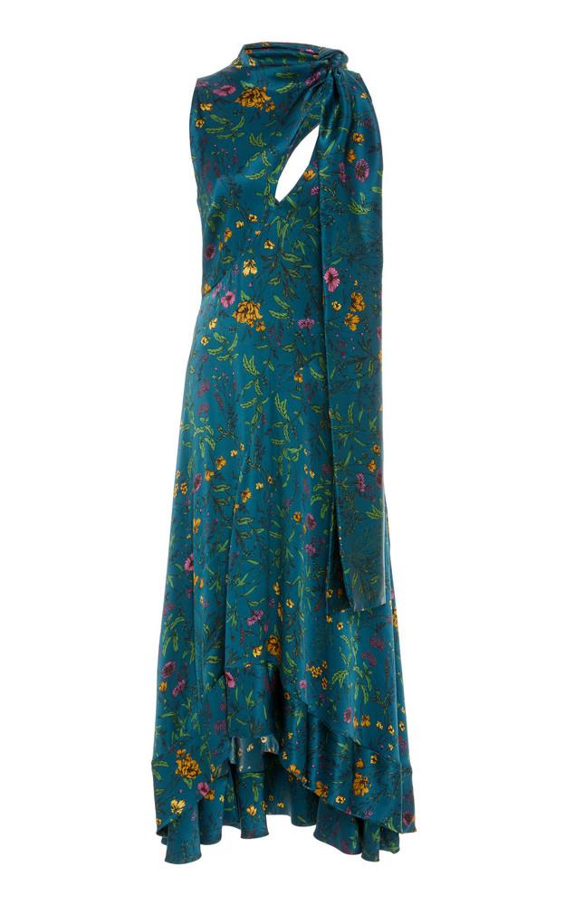 AMUR Georgia Floral-Patterned Midi Dress in print