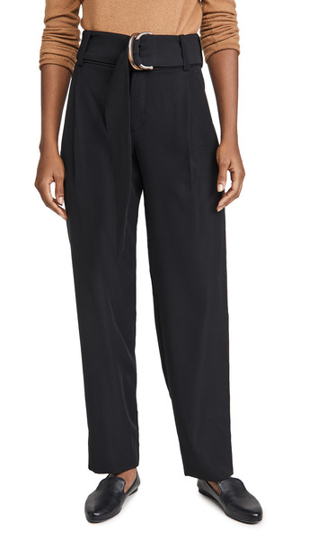 Vince Belted Tapered Pants in black