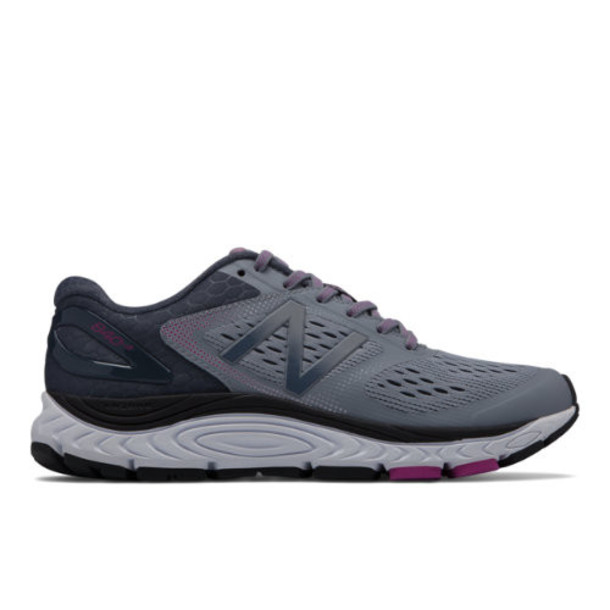 New Balance 840v4 Women's Neutral Cushioned Shoes - Grey/Pink (W840GO4)