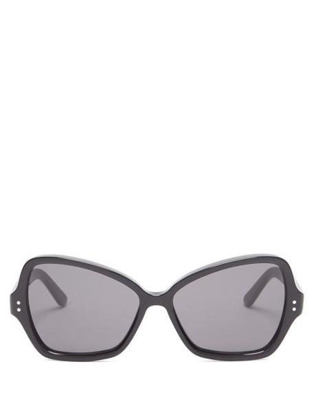 Celine Eyewear - Butterfly Acetate Sunglasses - Womens - Black