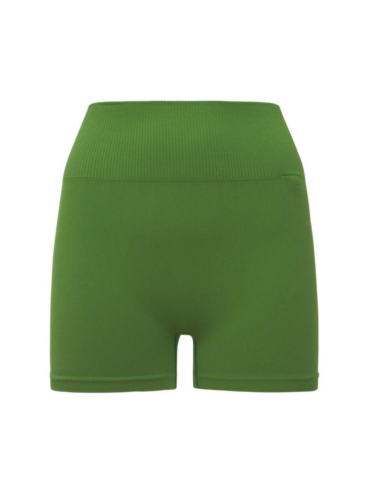 VAARA Seana High Waist Seamless Yoga Shorts in green
