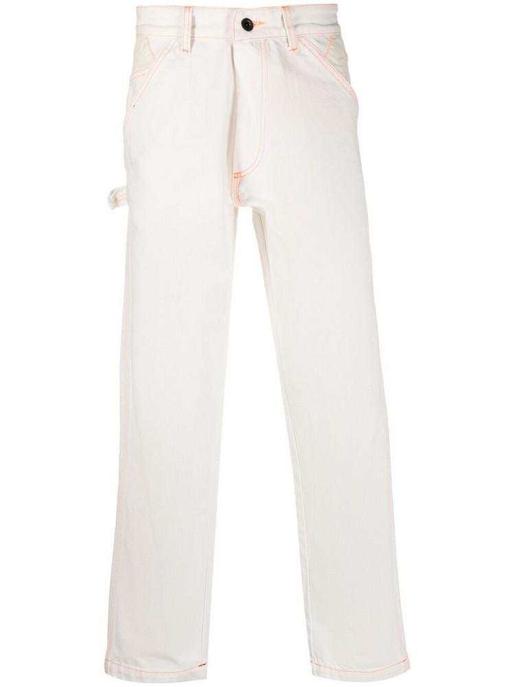 U.P.W.W. U.P.W.W. contrast-stitch straight jeans - White