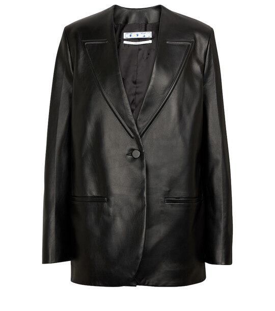 Off-White Leather jacket in black