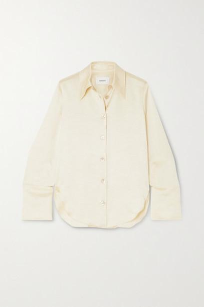 Nanushka - Mandine Washed-satin Shirt - Cream