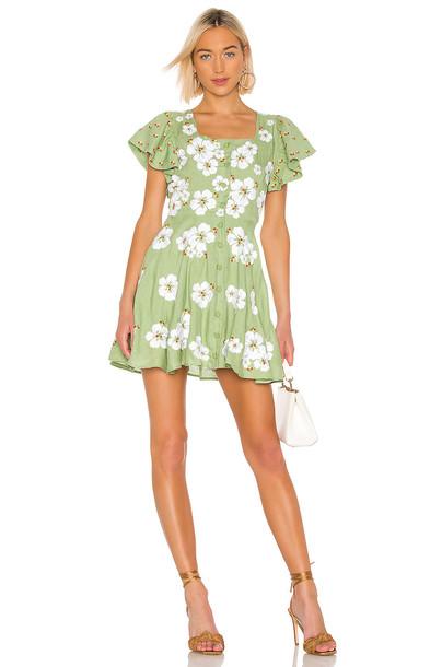 All Things Mochi Kay Dress in green