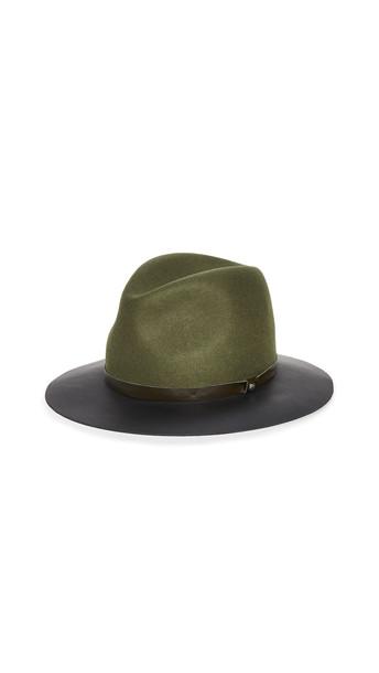 Rag & Bone Floppy Leather Brim Hat in multi