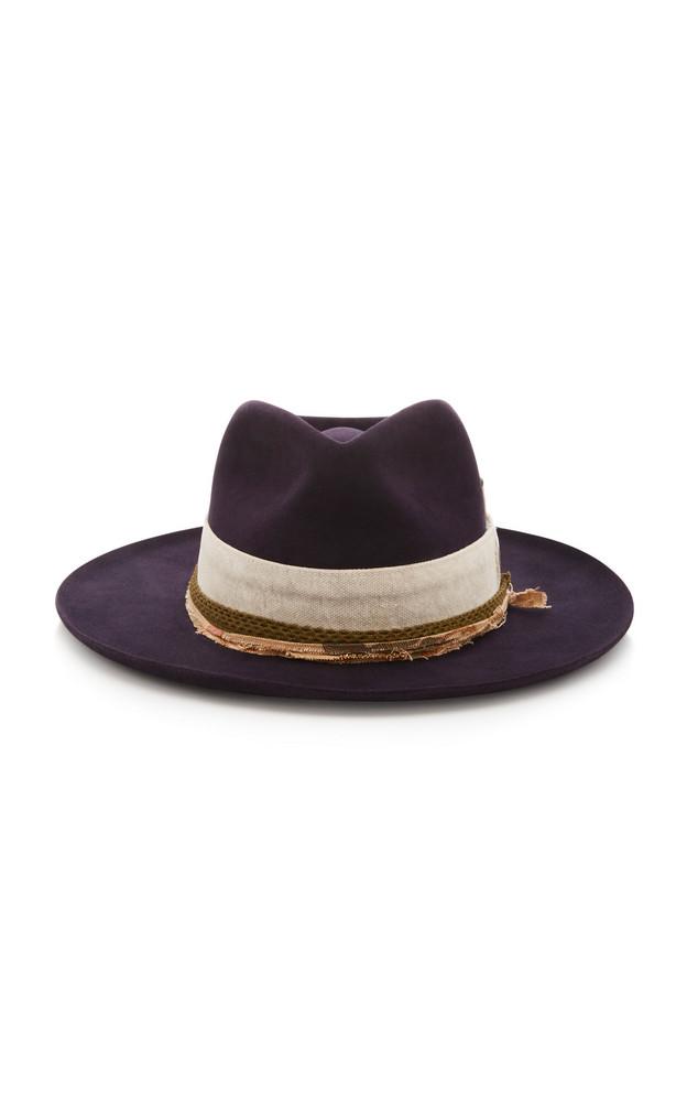 Nick Fouquet Esalen Wide-Brim Felt Hat in brown