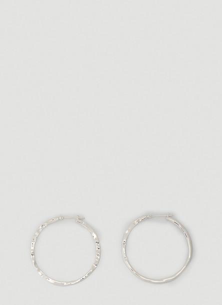 Tom Wood Mizuyo Hoop Earrings in Silver size One Size