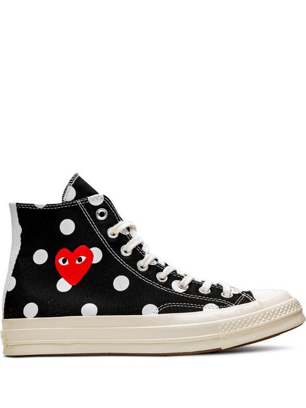 COMME DES GARÇONS PLAY X CONVERSE x Comme Des Garcons Chuck 70 HI sneakers in black