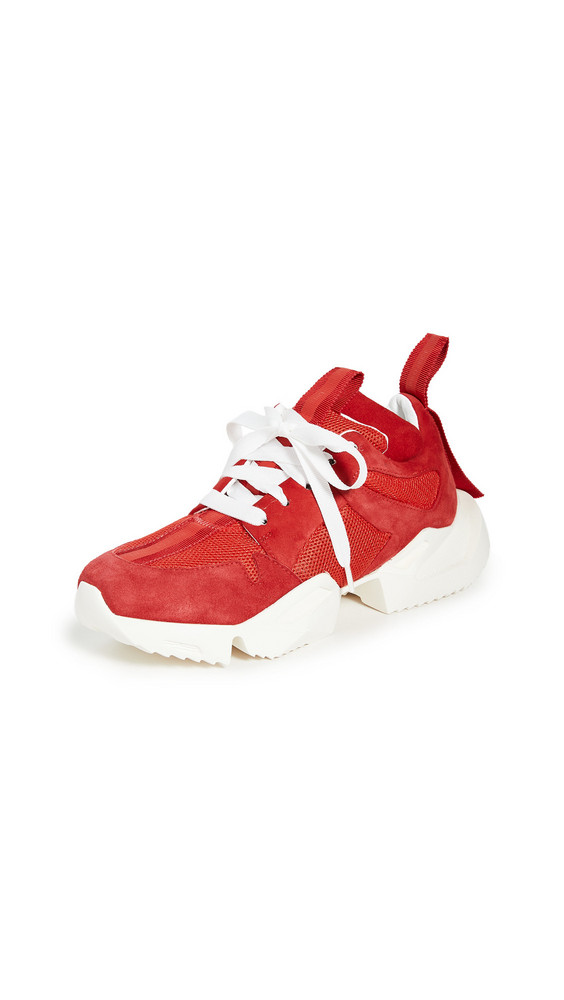 Unravel Project Double Tongue Sneakers in red