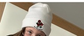hat,white,roses,bad,influence,beanie