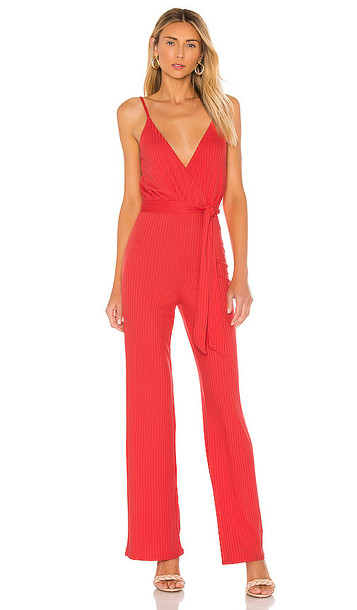 Lovers + Friends Lovers + Friends Fiona Jumpsuit in Red