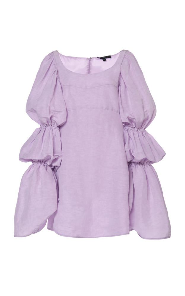 Ellery Capri Crepe De Chine Dress Size: 40 in purple