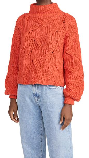 Free People Seasons Change Sweater in rose