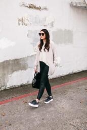 kendi everyday,blogger,cardigan,leggings,pants