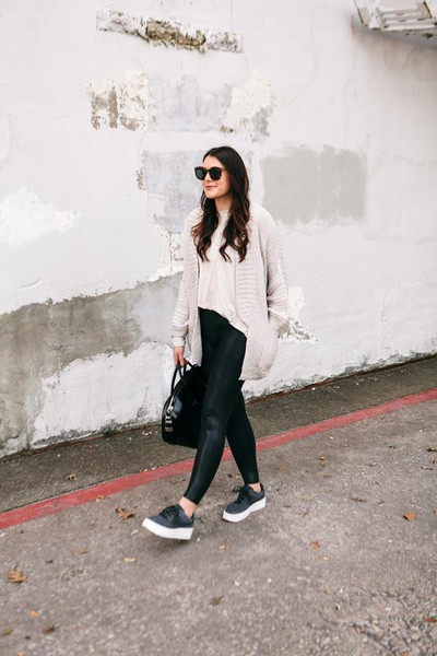 kendi everyday blogger cardigan leggings pants