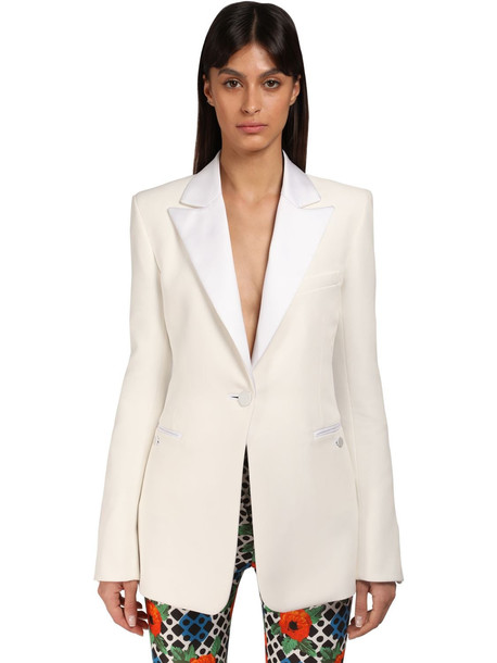 PACO RABANNE Cotton & Viscose Blazer in beige
