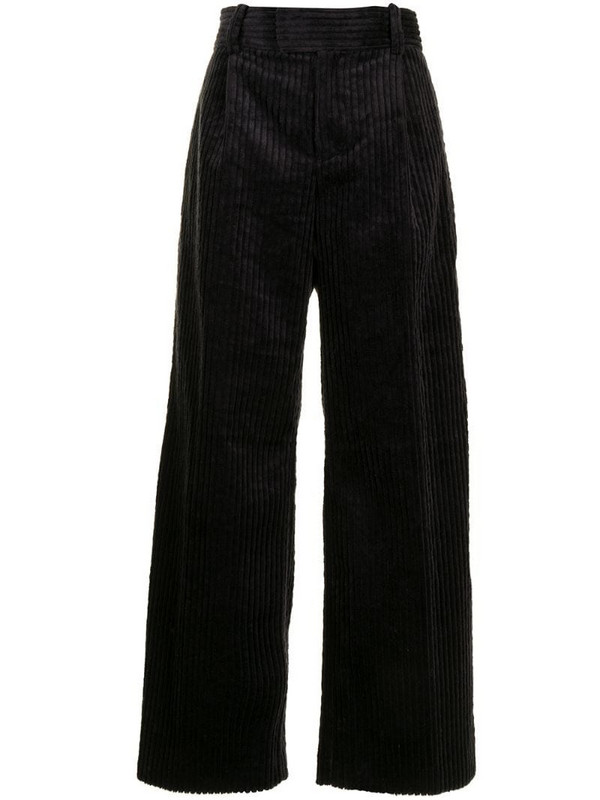 Undercover corduroy wide-leg trousers in black