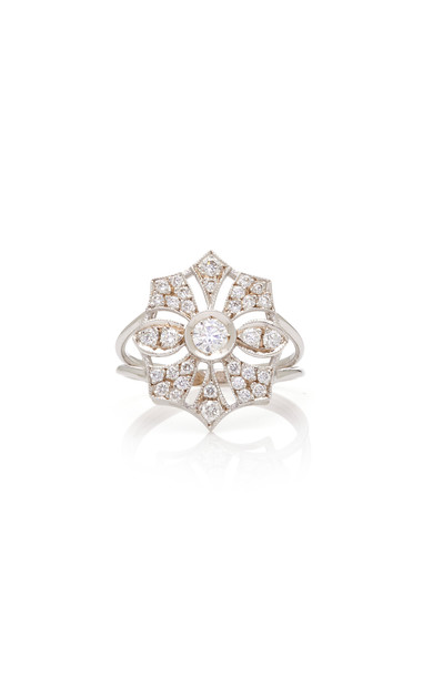 Melis Goral Paris 18K Gold Diamond Ring Size: 5