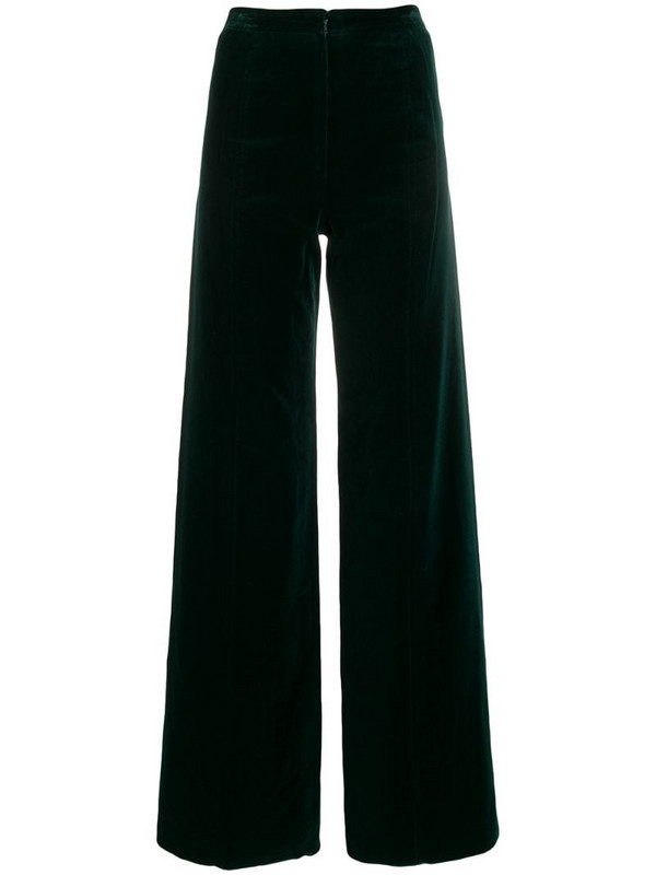 Emanuel Ungaro Pre-Owned 1970's wide-leg trousers in green