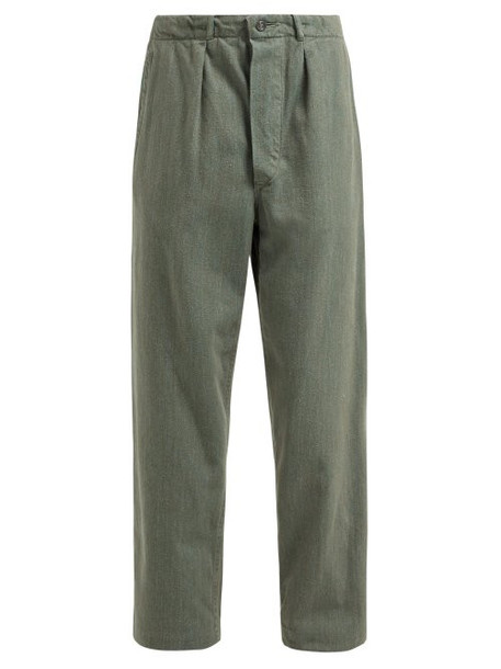 Myar - Sep70 Cotton Military Trousers - Womens - Green