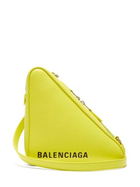 Balenciaga - Triangle Pochette S Leather Bag - Womens - Yellow