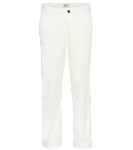 Woolrich Stretch-cotton mid-rise pants in white