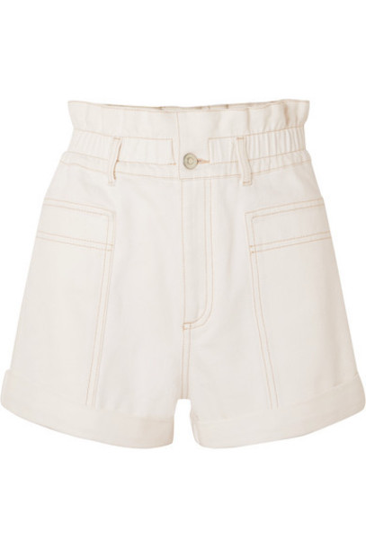 Stella McCartney - Net Sustain Organic Denim Shorts - White