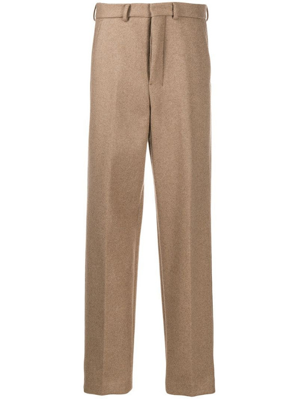 AMI Paris wide-leg tailored trousers in neutrals