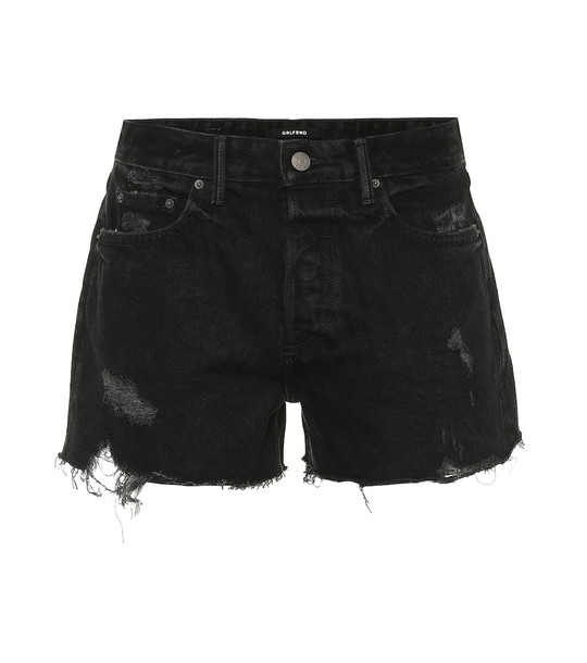 Grlfrnd Helena denim shorts in black