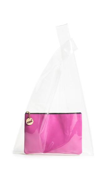 Studio 33 Bea Shopper Tote in pink / clear