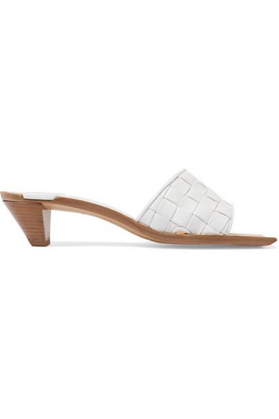 Bottega Veneta - Intrecciato Leather Mules - White