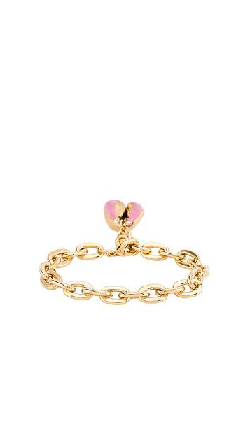joolz by Martha Calvo Enamel Puka Bracelet in Metallic Gold