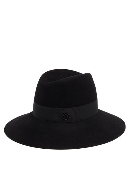 Maison Michel - Kate Grosgrain-trim Felt Fedora Hat - Womens - Black