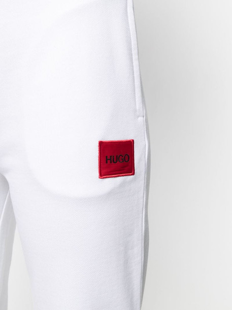 HUGO logo-patch track pants in white