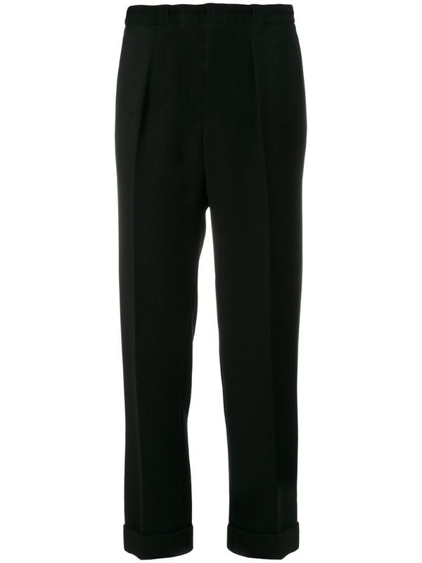 Roland Mouret straight leg tailored trousers in black