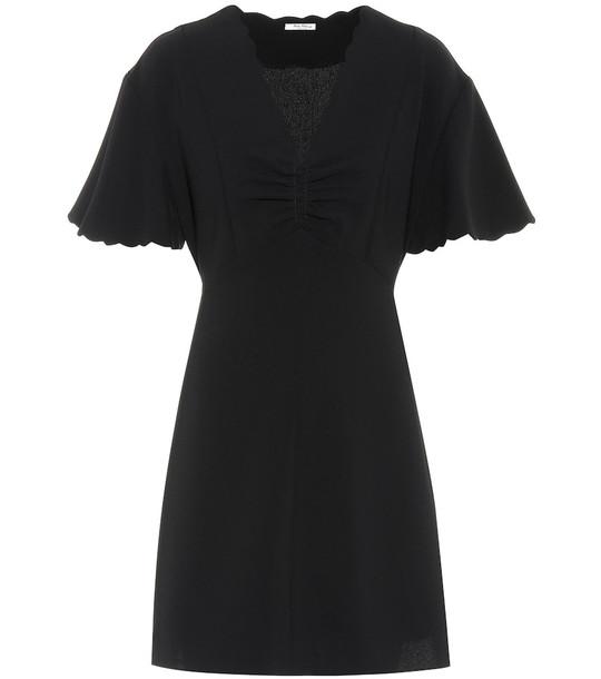 Miu Miu Cady minidress in black