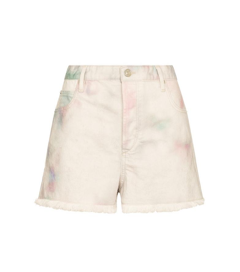 Isabel Marant, Étoile Lesiabb tie-dye denim shorts in white
