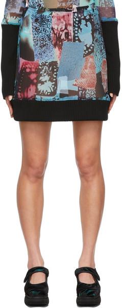 Paula Canovas Del Vas Nylon Mesh Skirt in blue